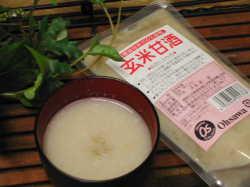 国内産有機玄米を麹で発酵させた【玄米甘酒】