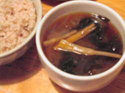 金針菜の味噌汁