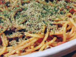すりごまとにんじんのスパゲティー